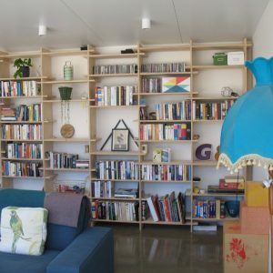 01 - Strine environments - Ecokit modular home - dickson ACT - canberra architect - canberra builder - bookshelf