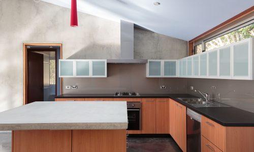 04 - Strine Design - Canberra builder - Strine Environments - Solstice House 1 - internal - prefab concrete kitchen