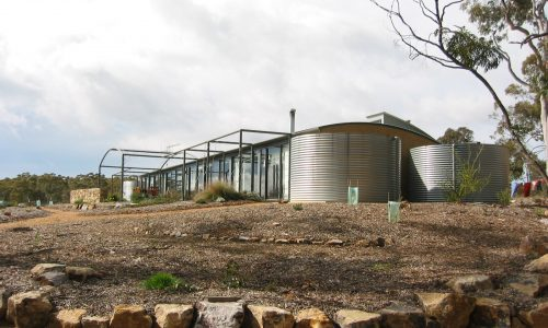 05 - Strine Design - Strine Environments - Wamboin House - Solstice House Wamboin - rise and water tank