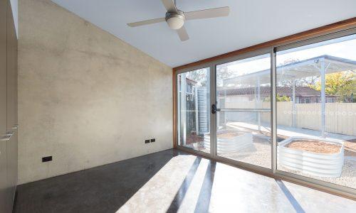 08 - Strine Design - Canberra builder - Strine Environments - Solstice House 1 - internal - prefab concrete north facing