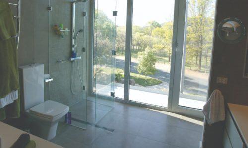 09 - Yarralumla Bay House - Sustainable house - Strine Design - storey bathroom