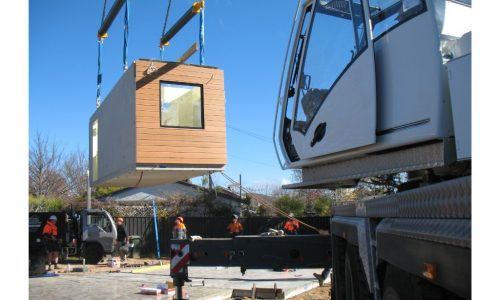 14 - Strine environments - Ecokit modular home - dickson ACT - canberra architect - canberra builder - prefab concrete installation