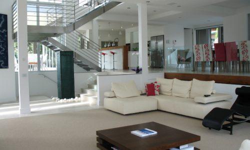 20 - Yarralumla Bay House - Sustainable house - Strine Design - loungeroom