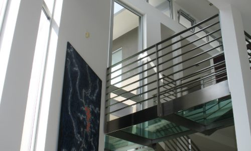 32 - Yarralumla Bay House - Sustainable house - Strine Design - ceiling lightness and stairs