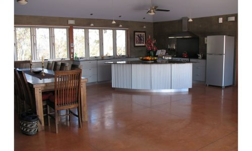 11 - Lake George House - Strine Design - Strine Environments - Best Canberra Builder - Green Architect Canberra - precast concrete kitchen