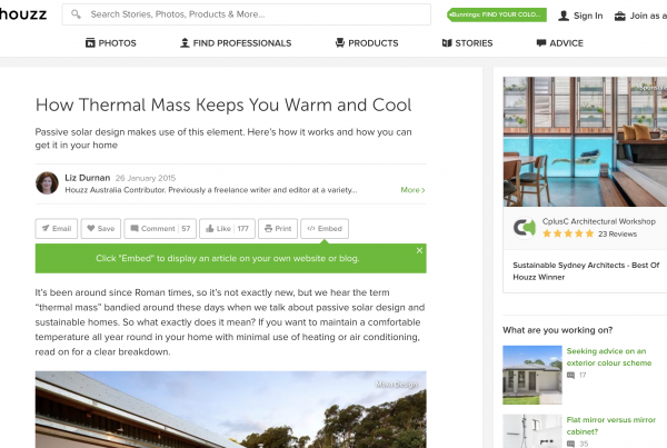 How Thermal Mass Keeps You Warm and Cool